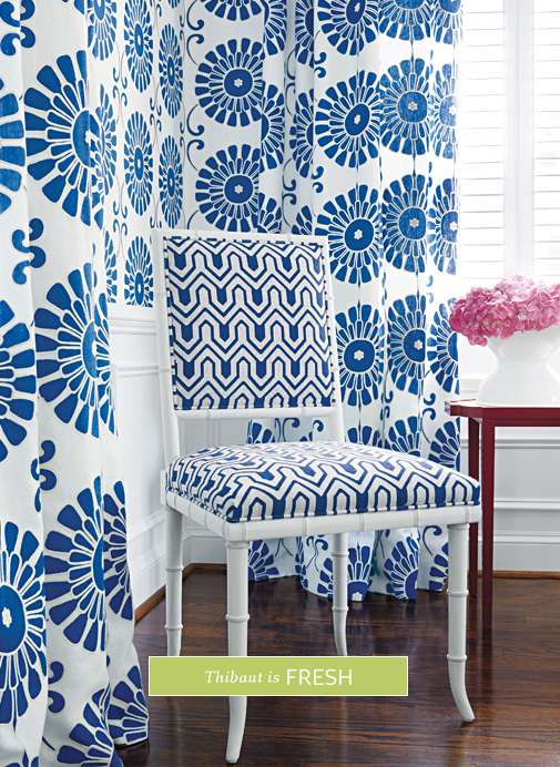 mixing blue and white in interior design