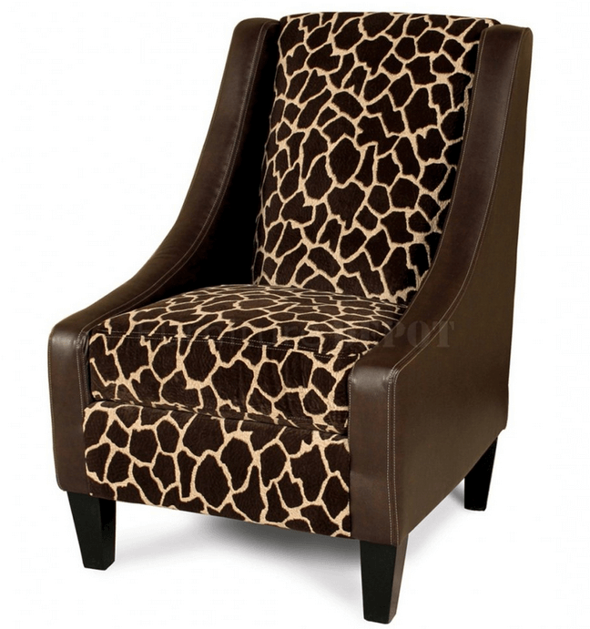 giraffe print chair – loris decoration