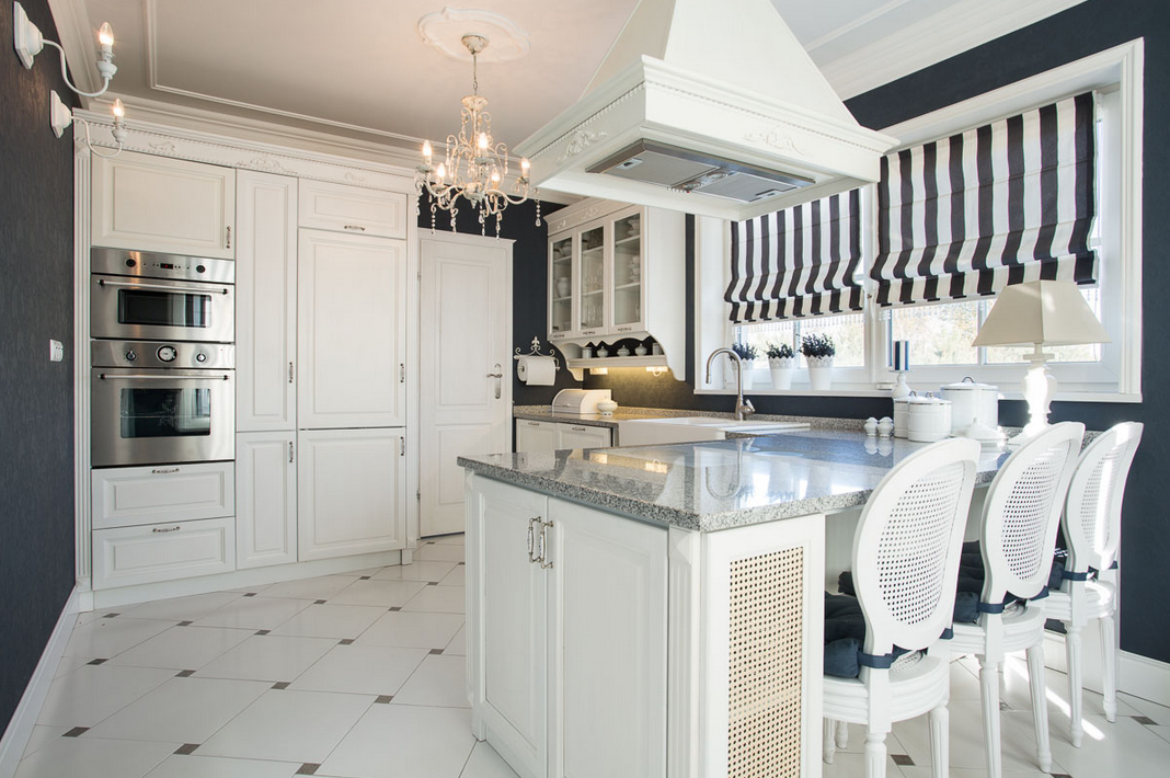 Navy blue kitchens abby rose interior designer for Grey blue white kitchen