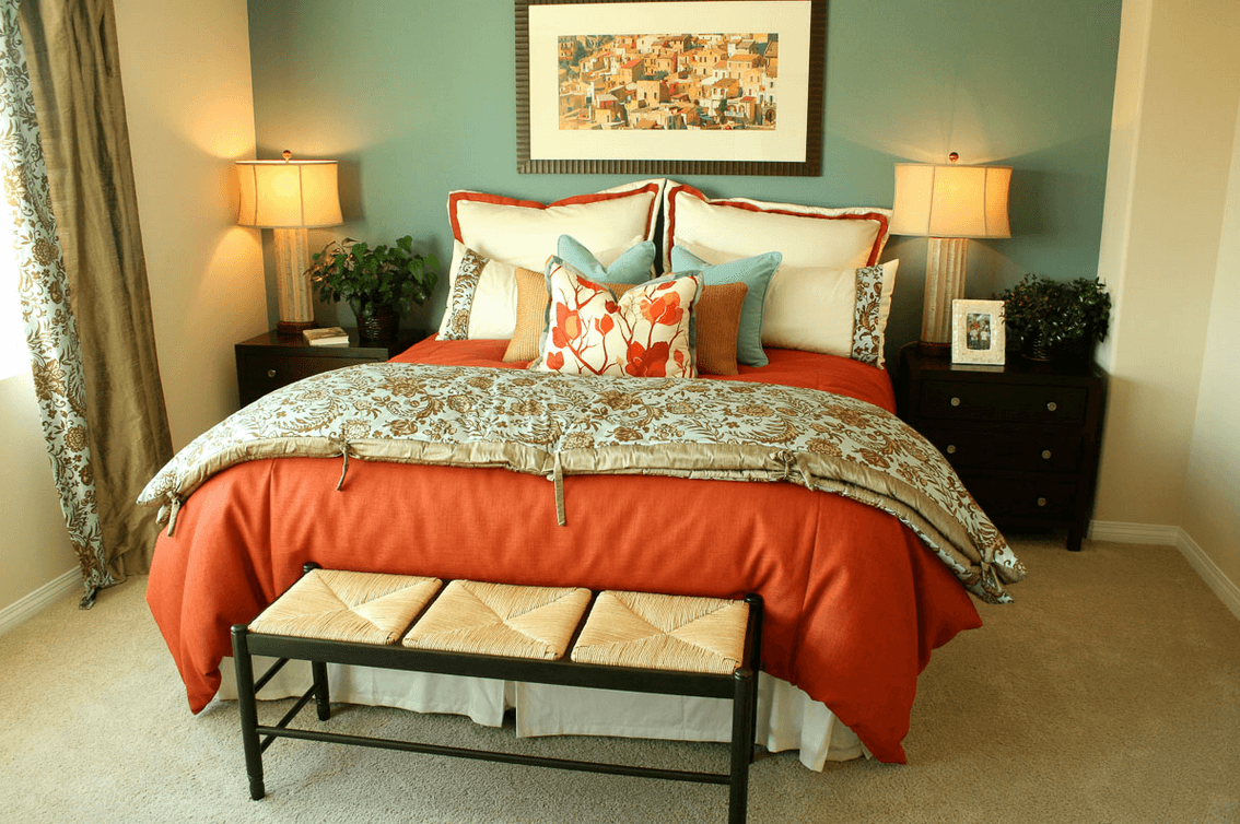 Master bedroom designing is fun abby rose interior designer for Bedroom bedding ideas